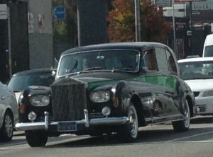 Obligatory Photo of Fancy Car in Hollywood. Heading north on La Cienega at Pico